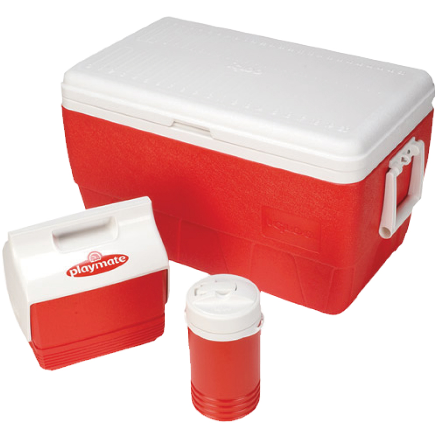 Igloo 52 Quart Family Combo Ice Chilly Cooler Box Chest